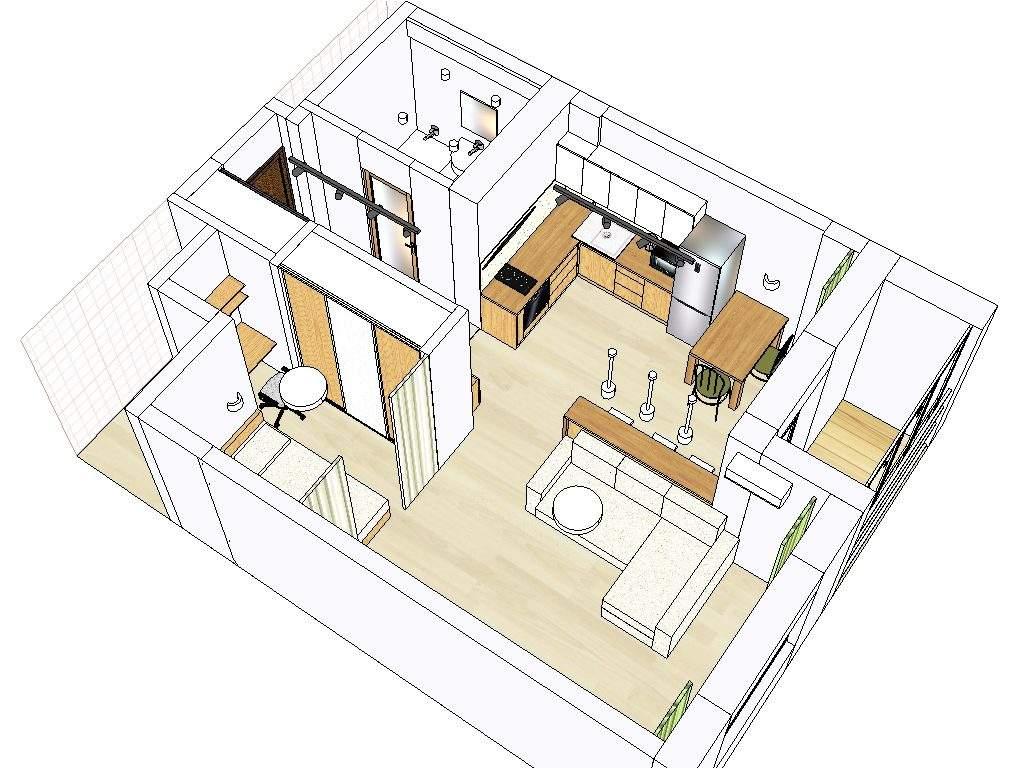 Дизайн интерьера квартиры-студии в Маяк Минска - ул. К. Туровского