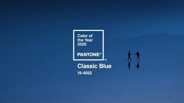 синий цвет - главный тренд 2020 года