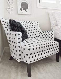 кресло в горошек в интерьере