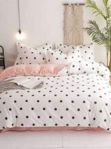 горошек в интерьере спальни
