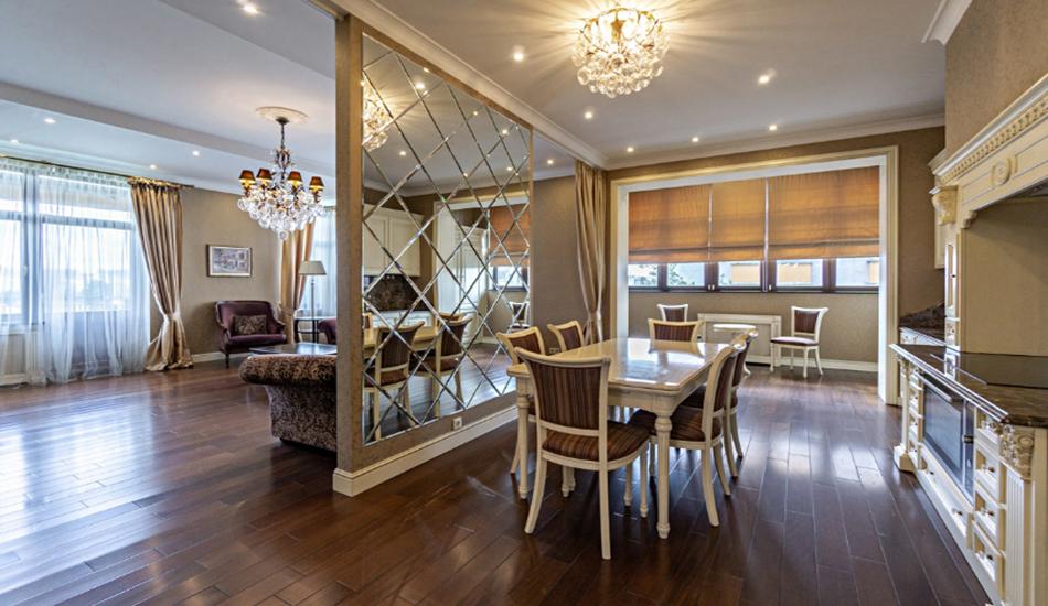 классический дизайн квартиры под сдачу