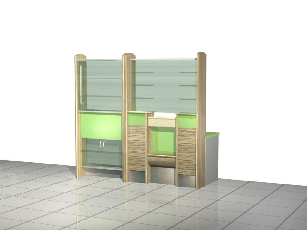 Визуализация мебели для аптеки