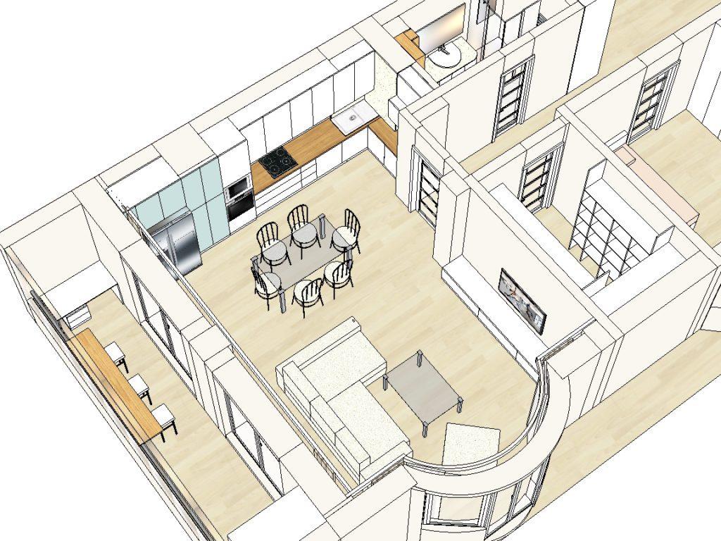 Планировочный дизайн-проект, ЖК Колизей, пр. Дзержинского 23