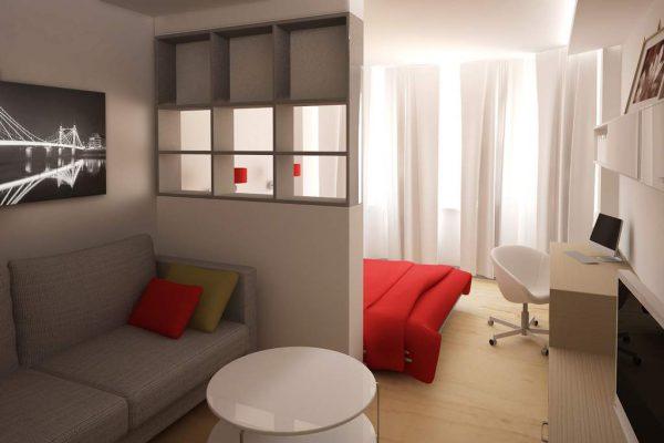 перегородка между спальней и гостиной из гипсокартона