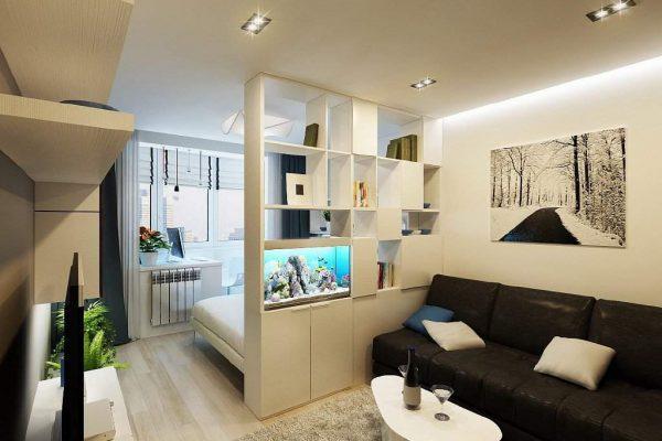 мебель перегородка между спальней и гостиной